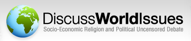 DiscussWorldIssues Banner - Socio-economic and Political Free Speech Discussion Board.