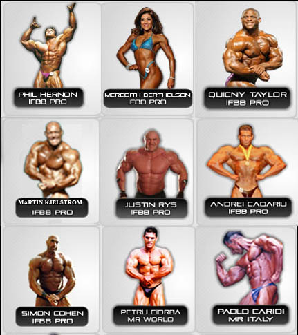 Synthetek Sponsored IFBB Pros