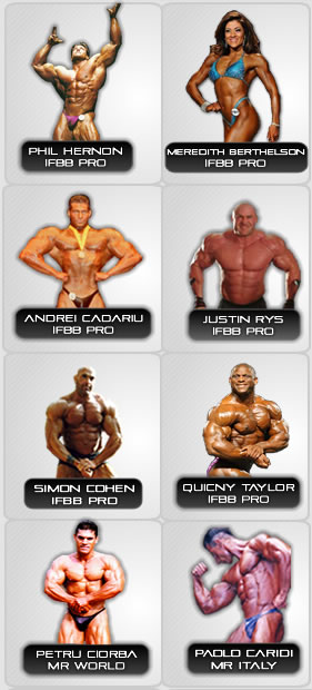 Synthetek Sponsored IFBB Professional Bodybuilders